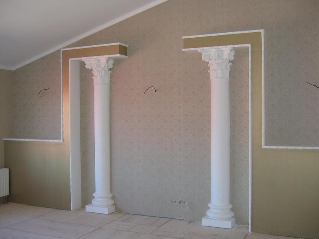 Оформление колонн своими руками