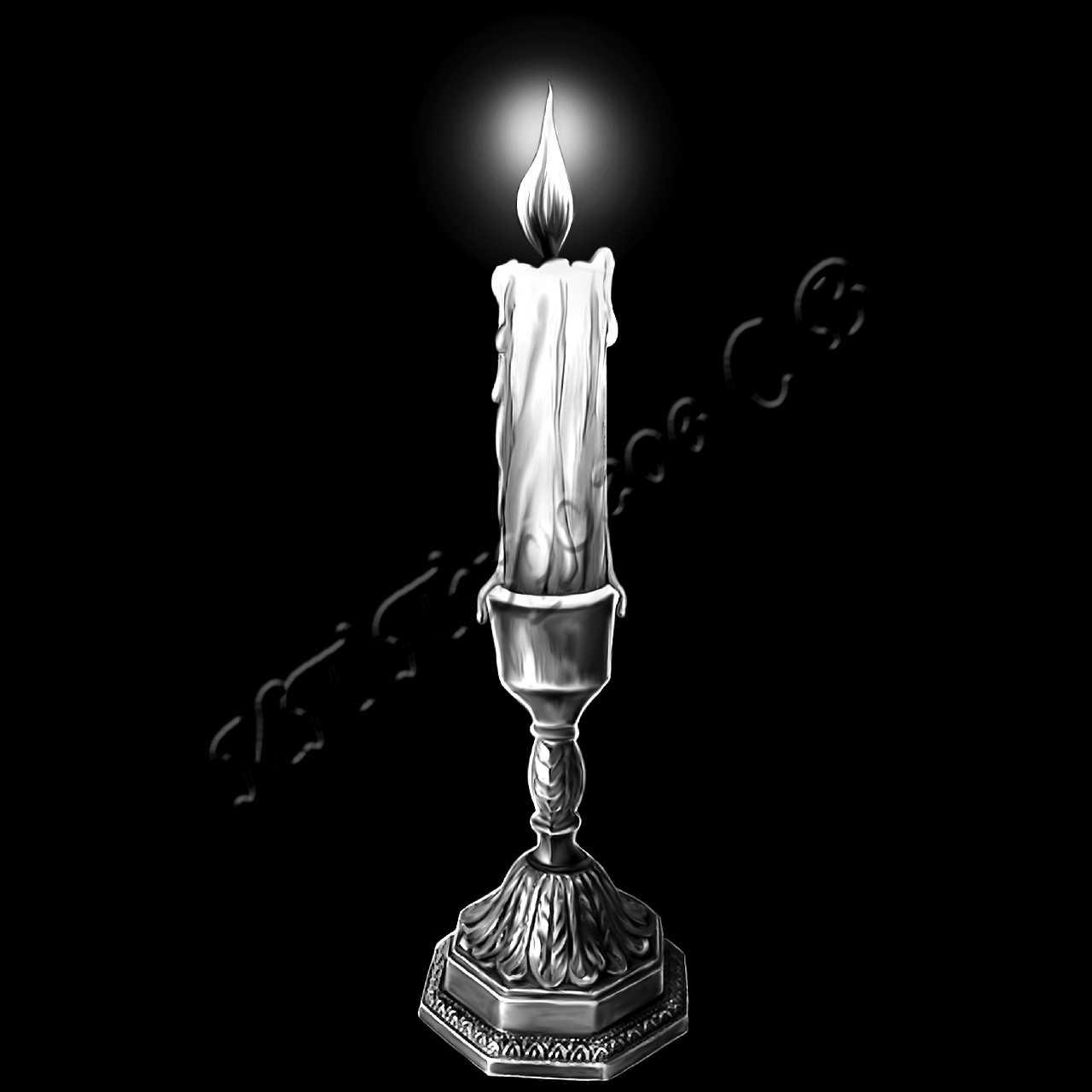 из свечей рисунок