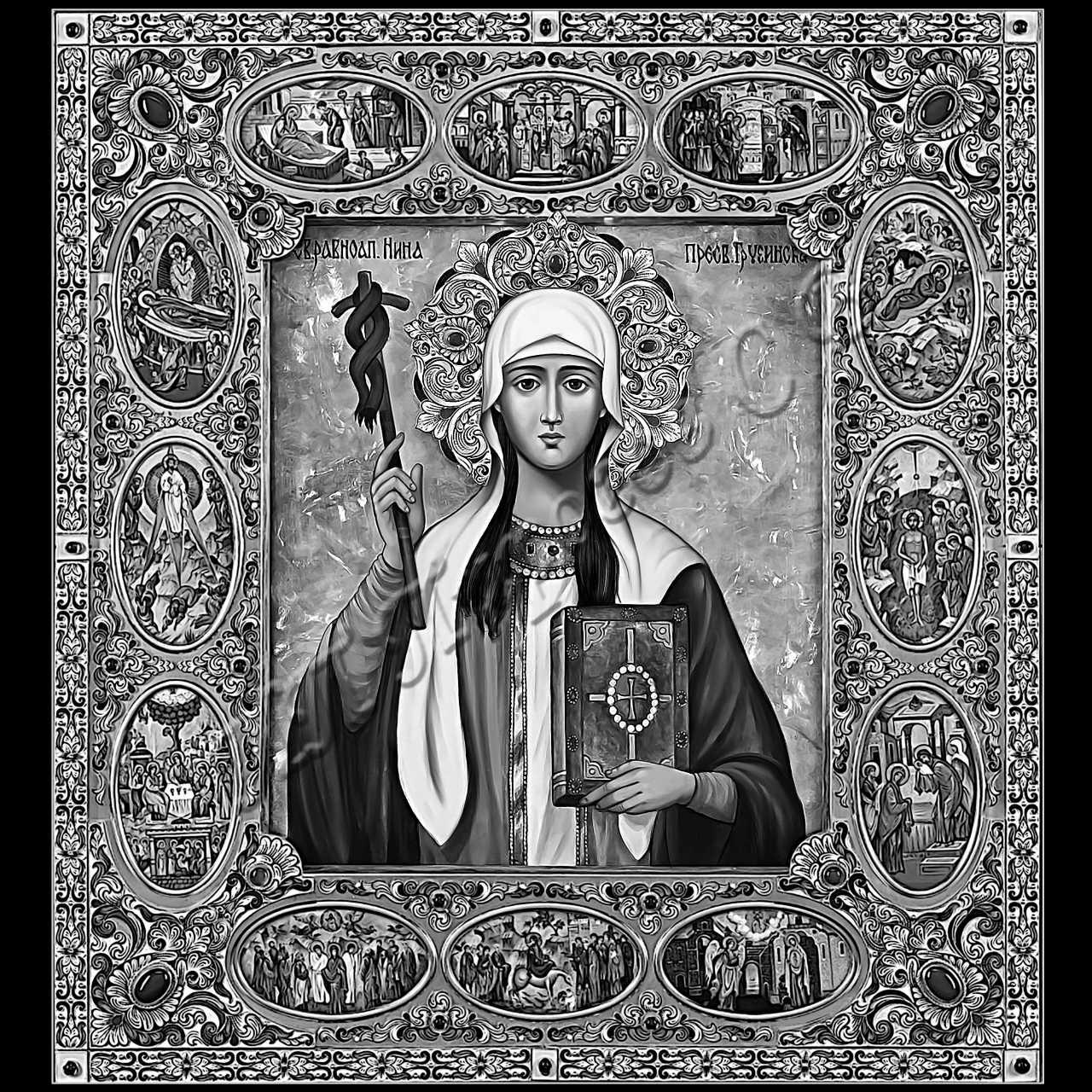 Открытки иконы святых
